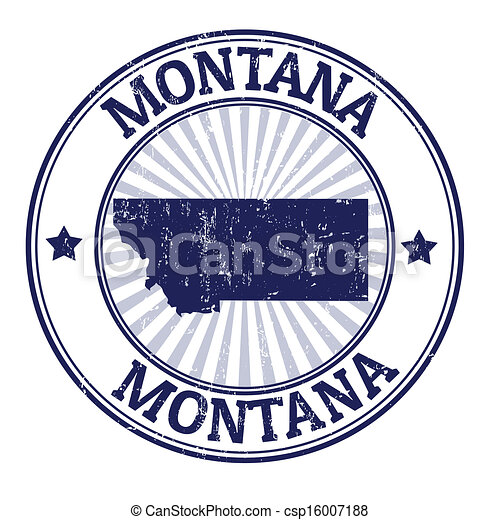 El sello de Montana - csp16007188