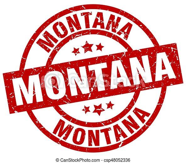 El sello de grunge de Montana - csp48052336