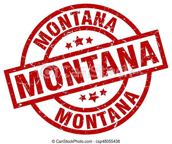El sello de grunge de Montana - csp48055438