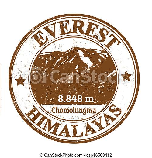 El sello del Monte Everest - csp16503412