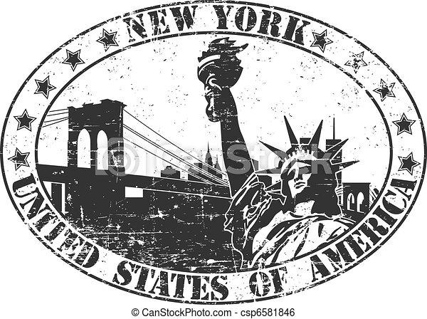 Un sello de Nueva York - csp6581846