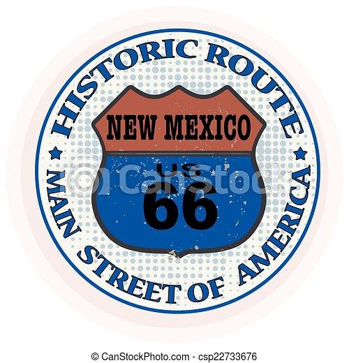 Ruta histórica nueva sello mexico - csp22733676