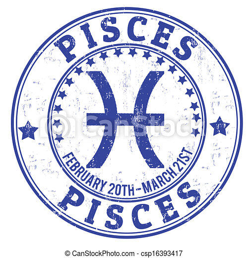 Piscis zodiac grunge - csp16393417