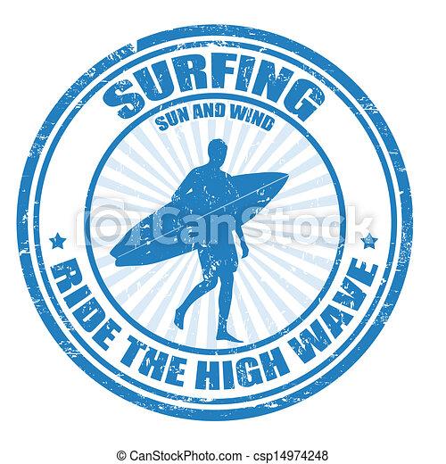 Estampilla de surf - csp14974248