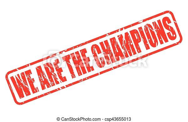 Somos los campeones textos rojos - csp43655013