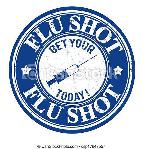 Un sello de vacuna contra la gripe - csp17647557