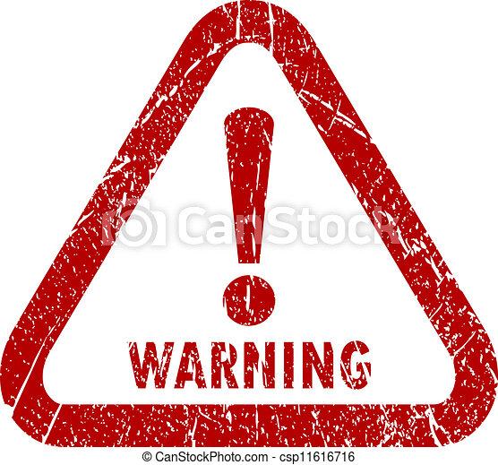 Estampado de aviso del vector - csp11616716