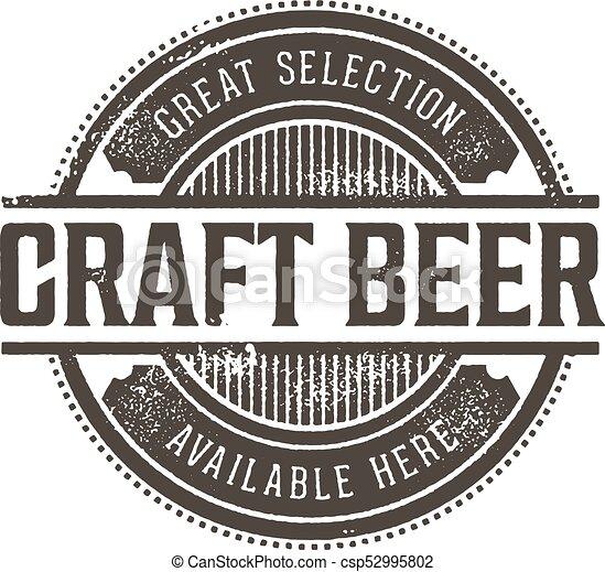 Un sello de cerveza de artesanía - csp52995802
