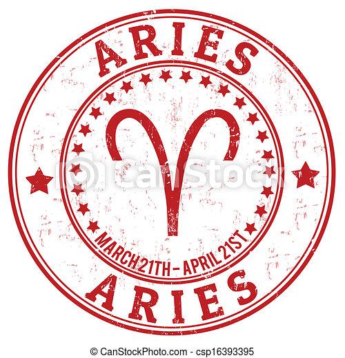 Aries zodiac grunge - csp16393395