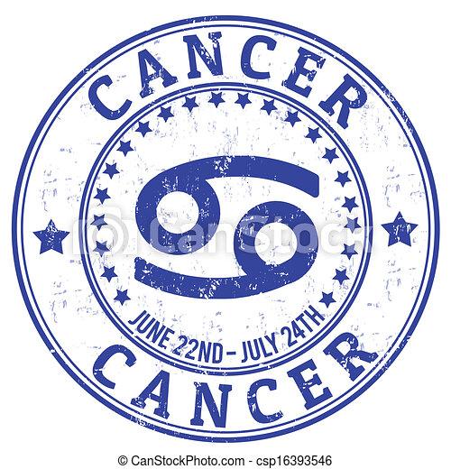 Cancer zodiaco sello grunge - csp16393546