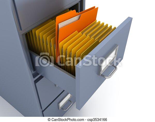estante, documentos - csp3534166