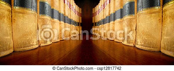 estante, libros de ley - csp12817742