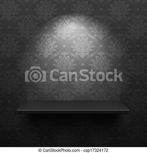 En el estante negro - csp17324172