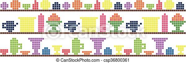 Platos de fondo en el píxel estante - csp36800361