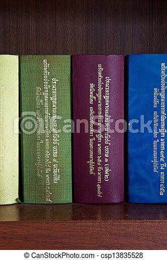 estante, tailandés, libro de derecho - csp13835528