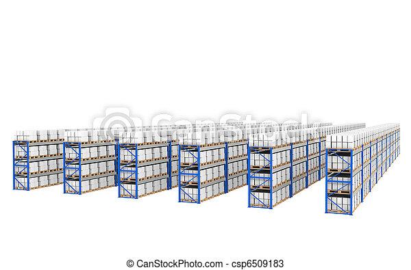 Shelves x 60. Vista de perspectiva superior. - csp6509183