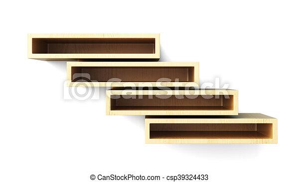 estantes pared aislado fondo frente blanco vista interpretacin 3d ilustracin de archivo - Estantes De Pared