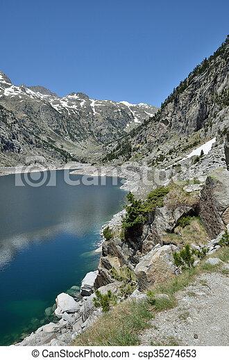 Estany de Cavallers in the Spanish Pyrenees - csp35274653