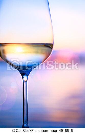 estate, arte, fondo, mare, vino bianco - csp14916616