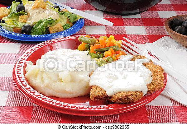 estate, cibi, picnic - csp9802355