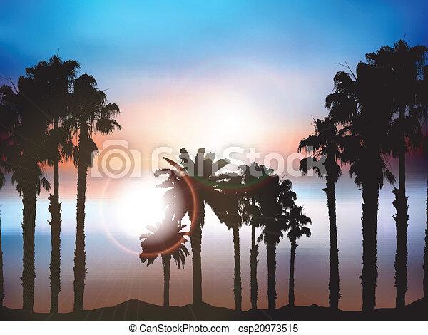 estate, palma, paesaggio - csp20973515