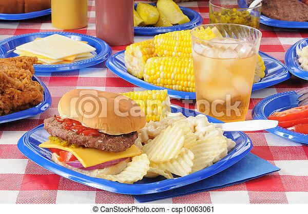 estate, picnic, festa - csp10063061