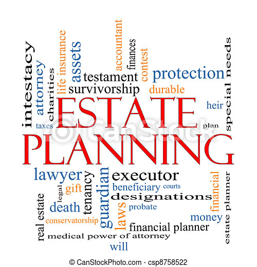 Estate Planning Word Cloud Concept - csp8758522