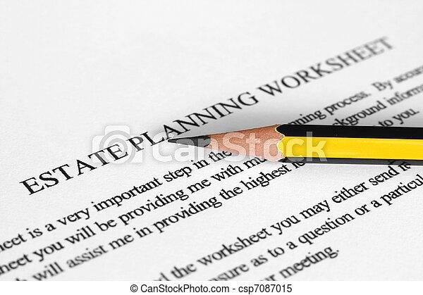 Estate planning worksheet - csp7087015
