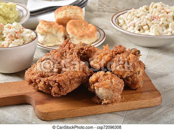 estate, pollo, picnic, cibi - csp72096308