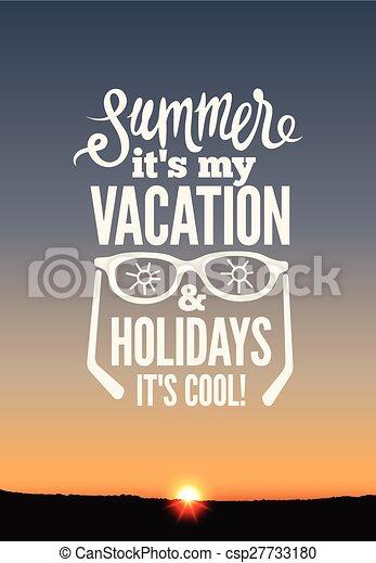 estate, poster., vacanze - csp27733180
