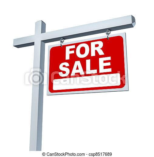 Estate Sign For Sale Sign - csp8517689