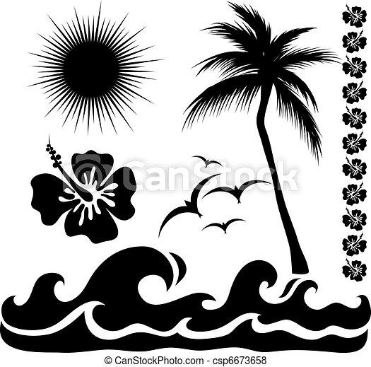 estate, silhouette - csp6673658
