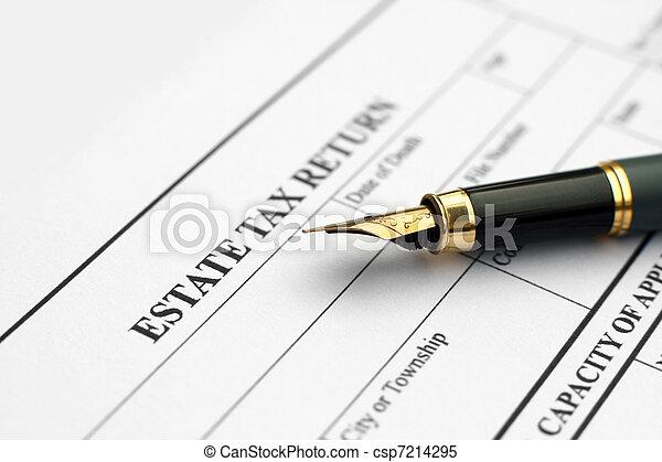 Estate tax return  - csp7214295