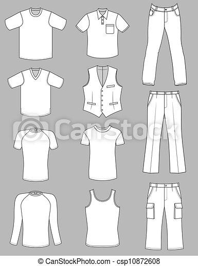 estate, uomo, collezione, vestiti - csp10872608