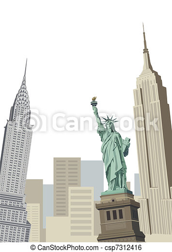 La estatua de la libertad - csp7312416