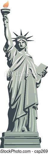 La estatua de la libertad - csp26971582