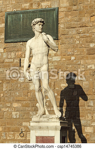 Estatua de David de Michelangelo - csp14745386