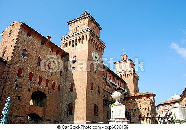 este, 城, -, イタリア, ferrara - csp6036459