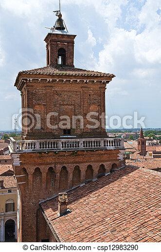 este, italy., castle., emilia-romagna., ferrara. - csp12983290