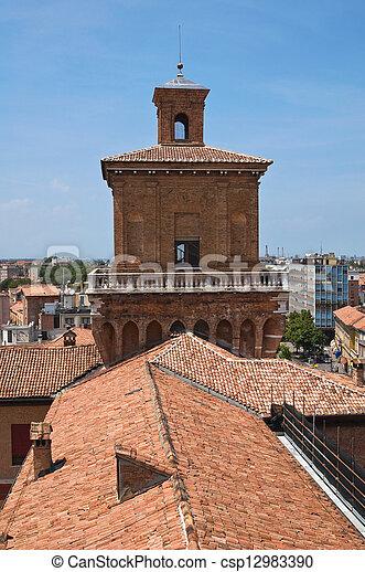 este, italy., castle., emilia-romagna., ferrara. - csp12983390