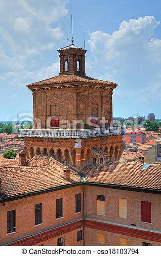 este, italy., castle., emilia-romagna., ferrara. - csp18103794