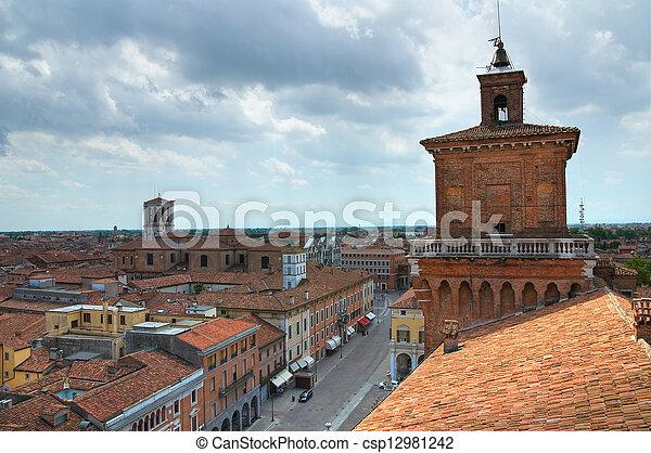 este, italy., castle., emilia-romagna., ferrara. - csp12981242