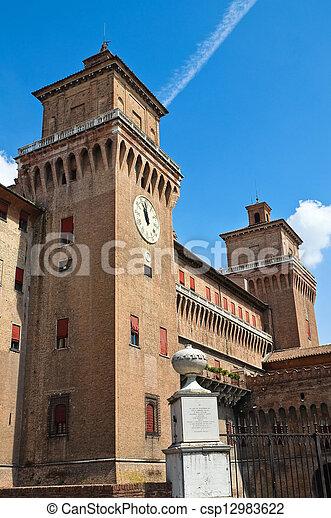 este, italy., castle., emilia-romagna., ferrara. - csp12983622