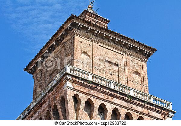este, italy., castle., emilia-romagna., ferrara. - csp12983722