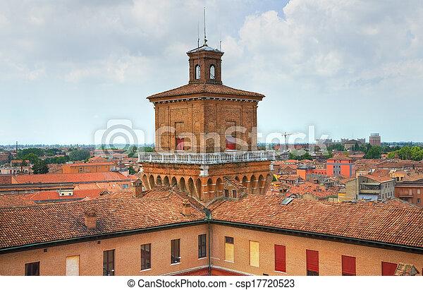 este, italy., castle., emilia-romagna., ferrara. - csp17720523