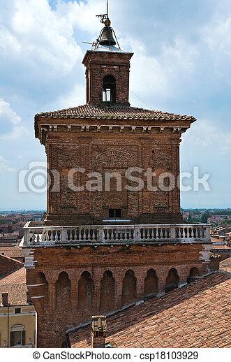 este, italy., castle., emilia-romagna., ferrara. - csp18103929