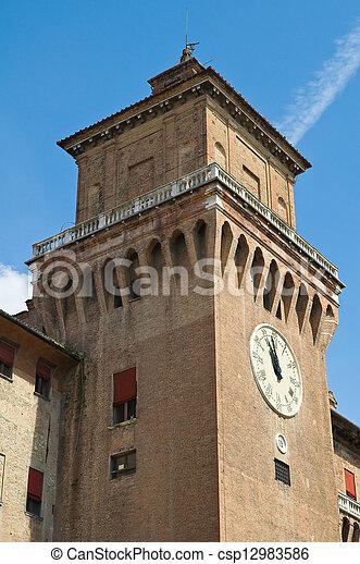 este, italy., castle., emilia-romagna., ferrara. - csp12983586