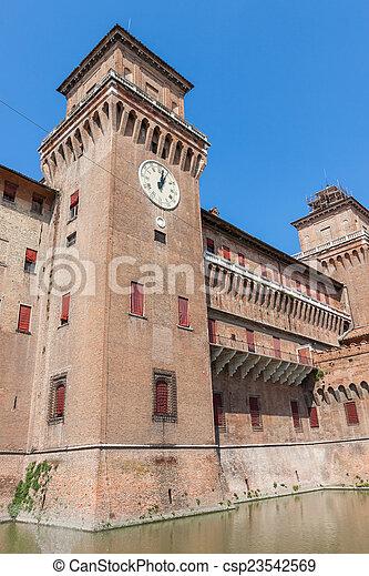 estense, イタリア, castle., emilia-romagna., ferrara. - csp23542569
