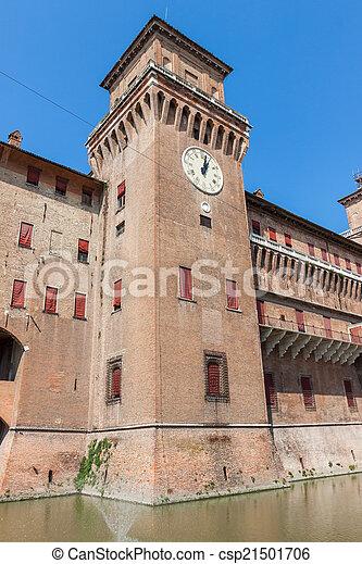 estense, イタリア, castle., emilia-romagna., ferrara. - csp21501706