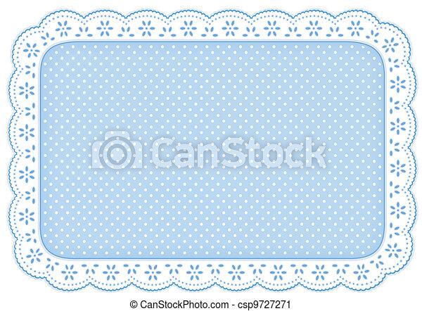 Colóquelo con encaje azul - csp9727271